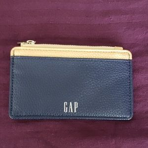 New gold and navy Gap credit card case wallet